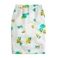 Collection No. 2 pencil skirt in tossed carnations