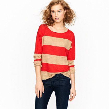 Nili Lotan® stripe boyfriend sweater