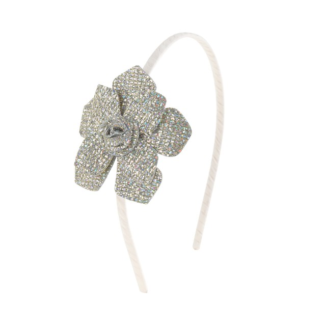 Girls' glitter flower headband