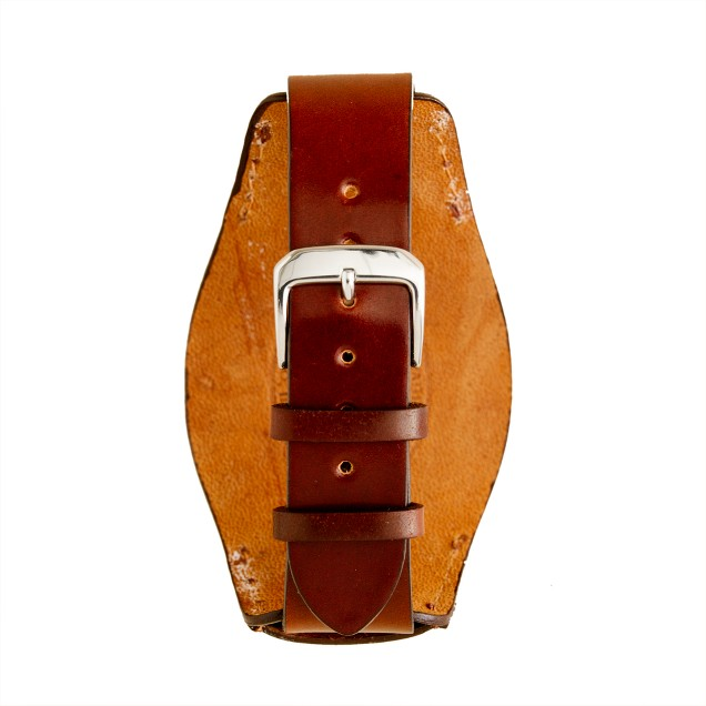 Bucktown shell cordovan 20mm bund pad watch strap