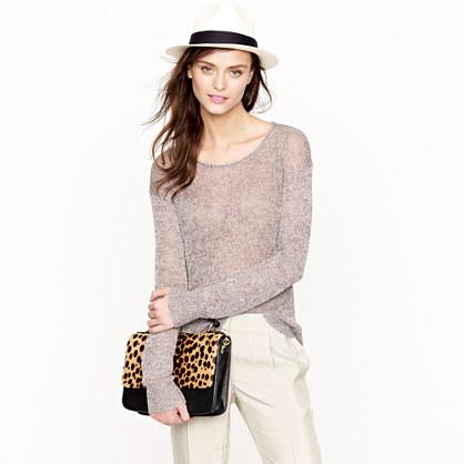 Linen sparkle scoopneck sweater