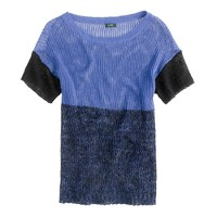 Linen colorblock sweater