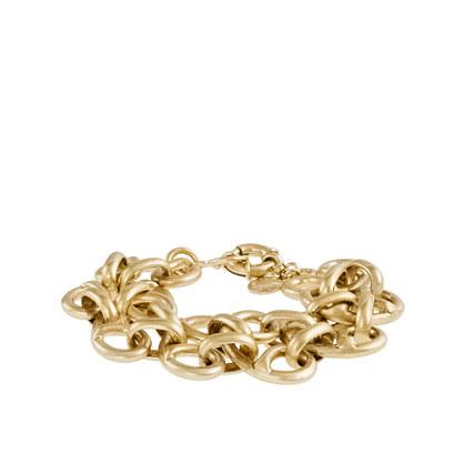 Scrolled link bracelet