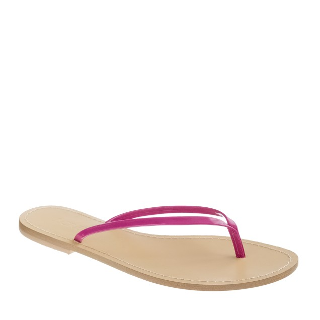 Patent capri sandals