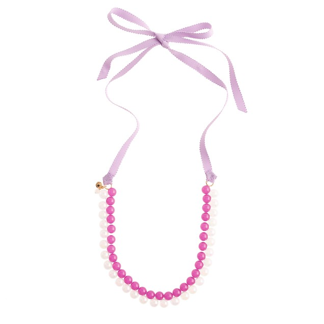Girls' two-tone bead necklace