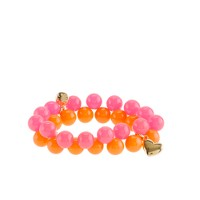 Girls' two-color bauble bracelet