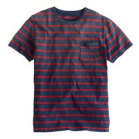 Sunwashed stripe pocket tee