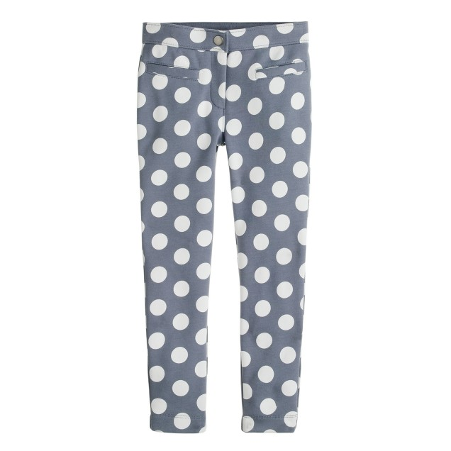 Girls' pixie pant in dot print