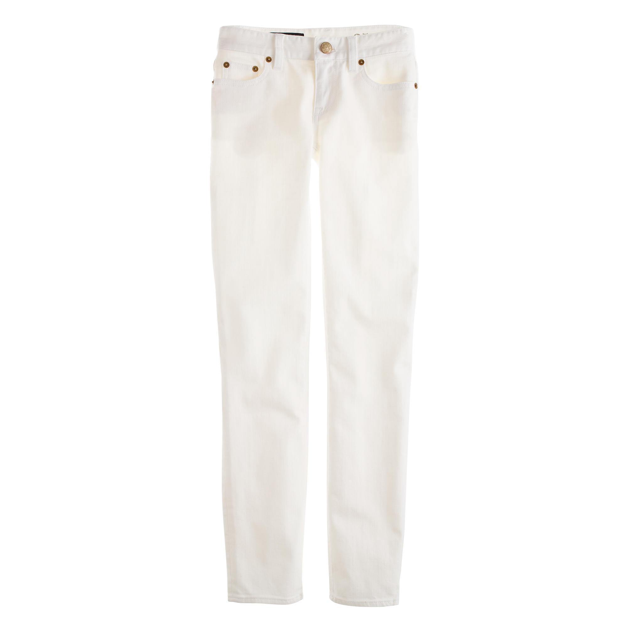 Cropped matchstick jean in white denim :   J.Crew