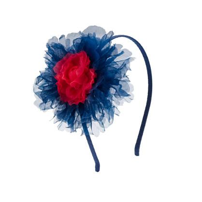 Girls' tulle flower headband