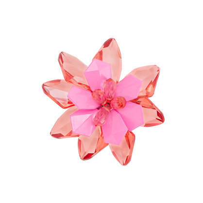 Girls' two-color flower pin