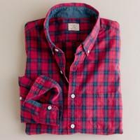 Secret Wash button-down shirt in Livingston tartan