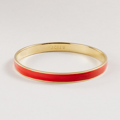 Thin hand-enameled bangle