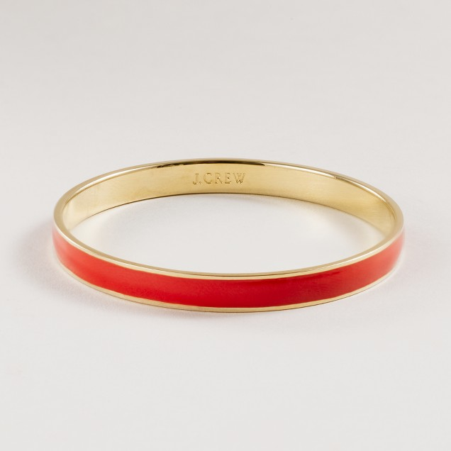 Thin hand-enameled bangle