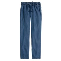 Lightweight washed chambray pant