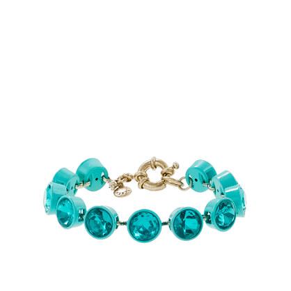 Small crystal brulée bracelet