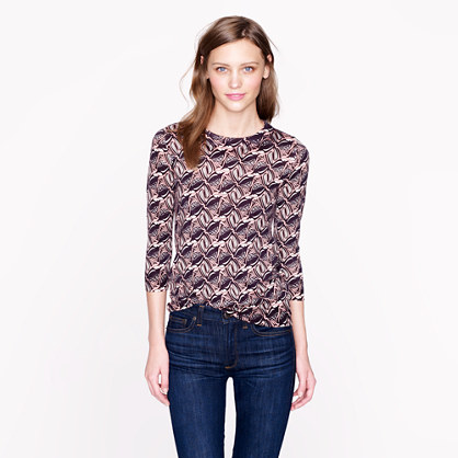 Merino Tippi sweater in tipsy parsons print