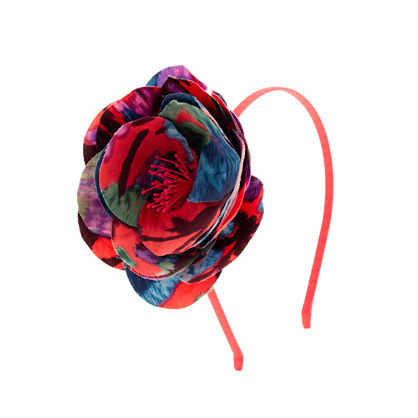 Girls' flame floral headband