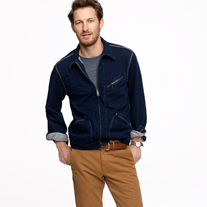 Wallace & Barnes Walker indigo fleece jacket