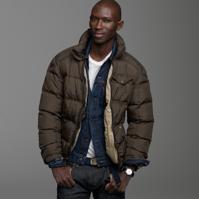 Alpine goosedown puffer jacket