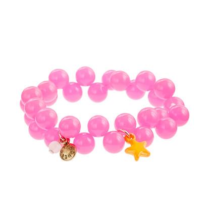 Girls' bead and stars bracelet