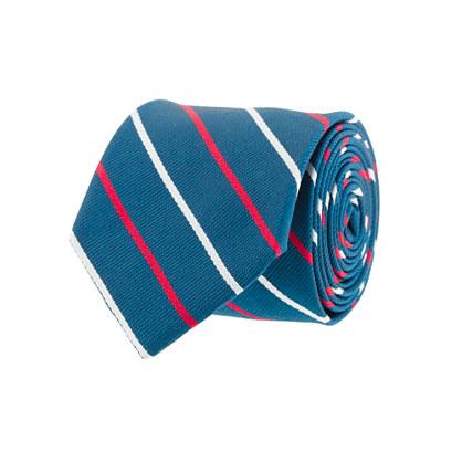 Hayes-stripe silk tie