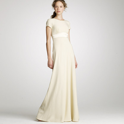 Crepe mimi t shirt gown for the bride j crew for Novelty bride wedding dress t shirt
