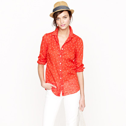 Perfect shirt in anchors and horseshoes