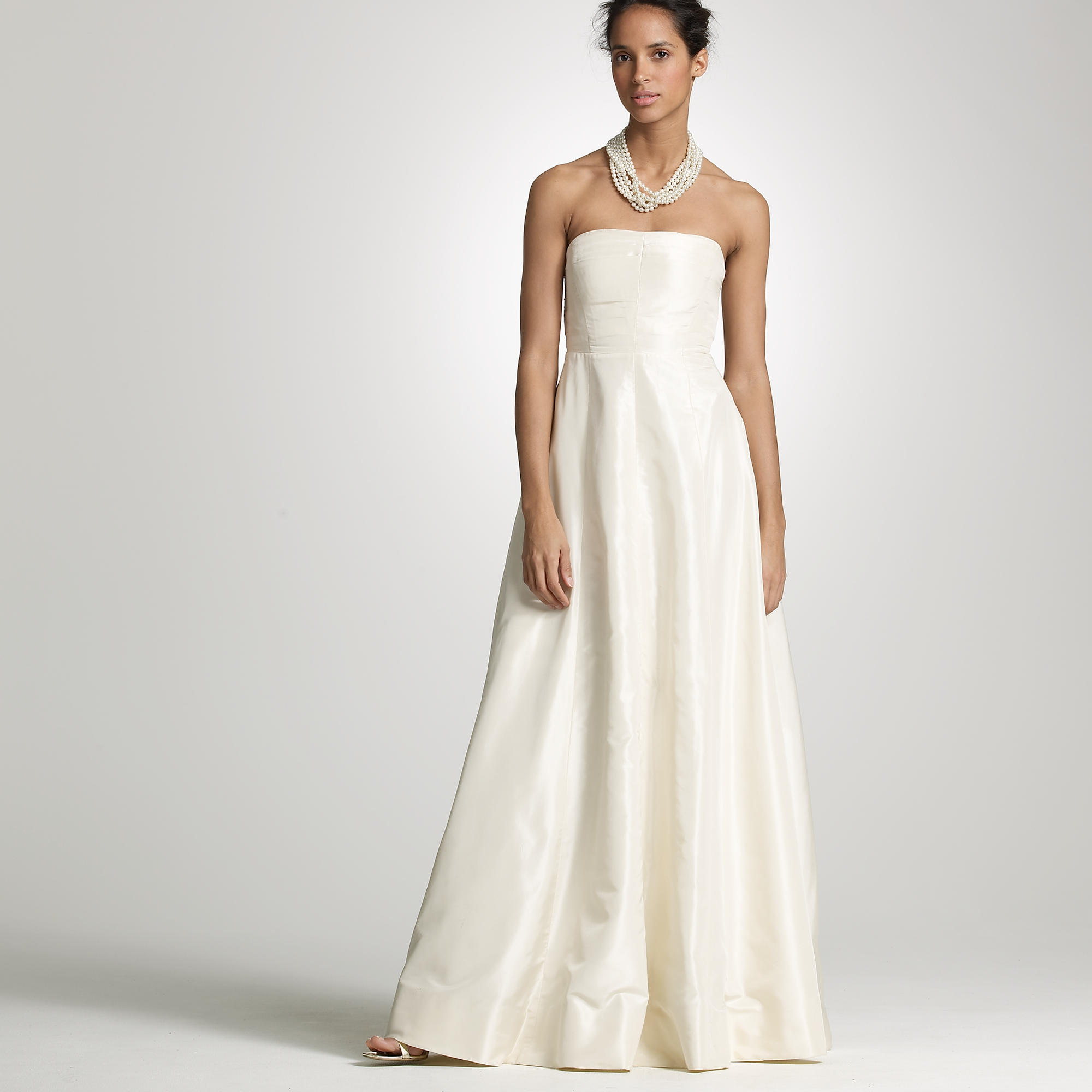 j crew wedding dress Silk taffeta Sabine gown