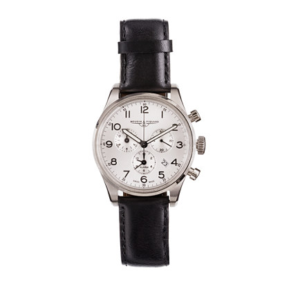 Mougin & Piquard™ for J.Crew chronograph watch in silver