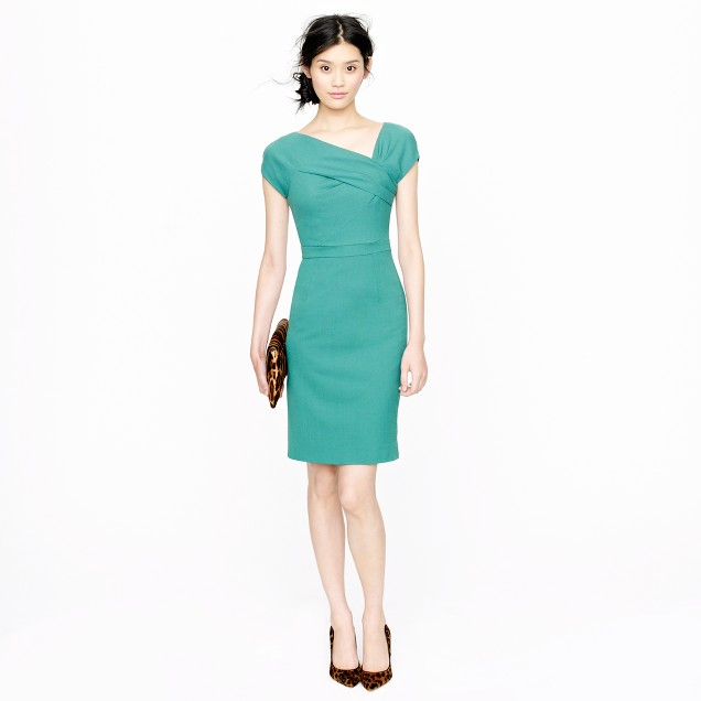 Petite origami sheath dress