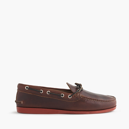Men's Quoddy® for J.Crew leather canoe shoes
