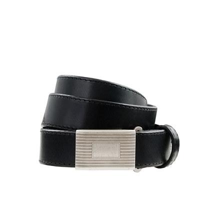 Kids' leather plaque belt