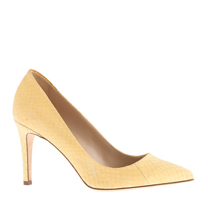 Collection Everly snakeskin pumps