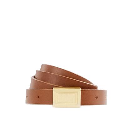 Skinny plaque belt