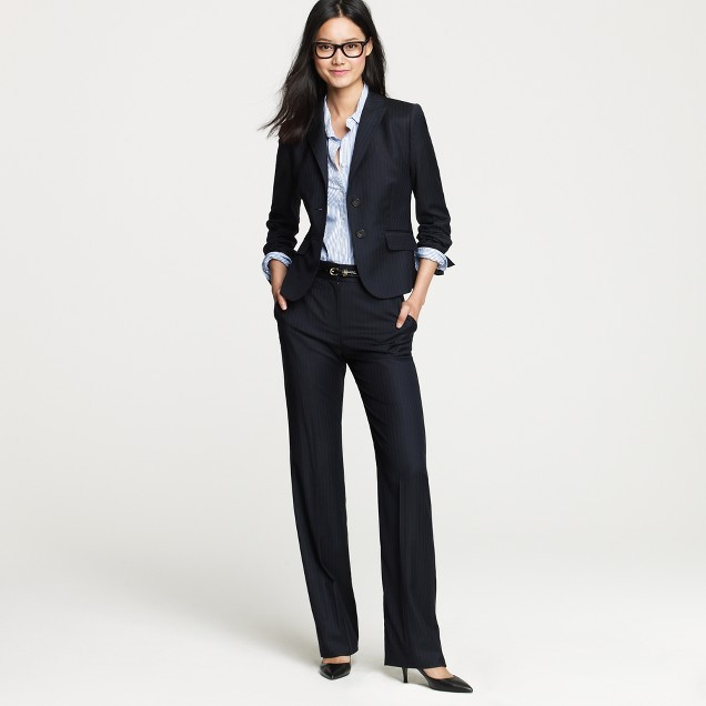 Petite two-button jacket in pinstripe Super 120s