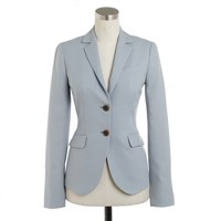 Tall two-button jacket in wool crepe