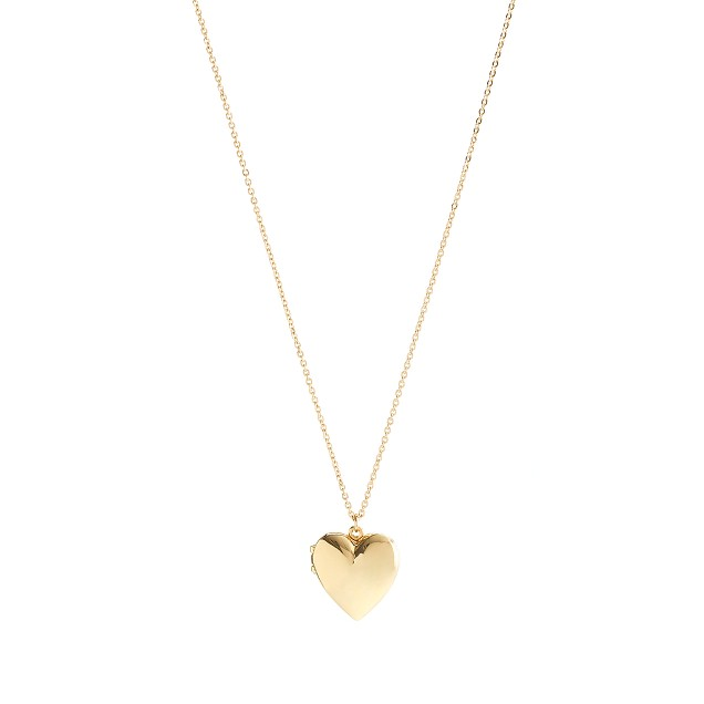 Girls' gold heart locket