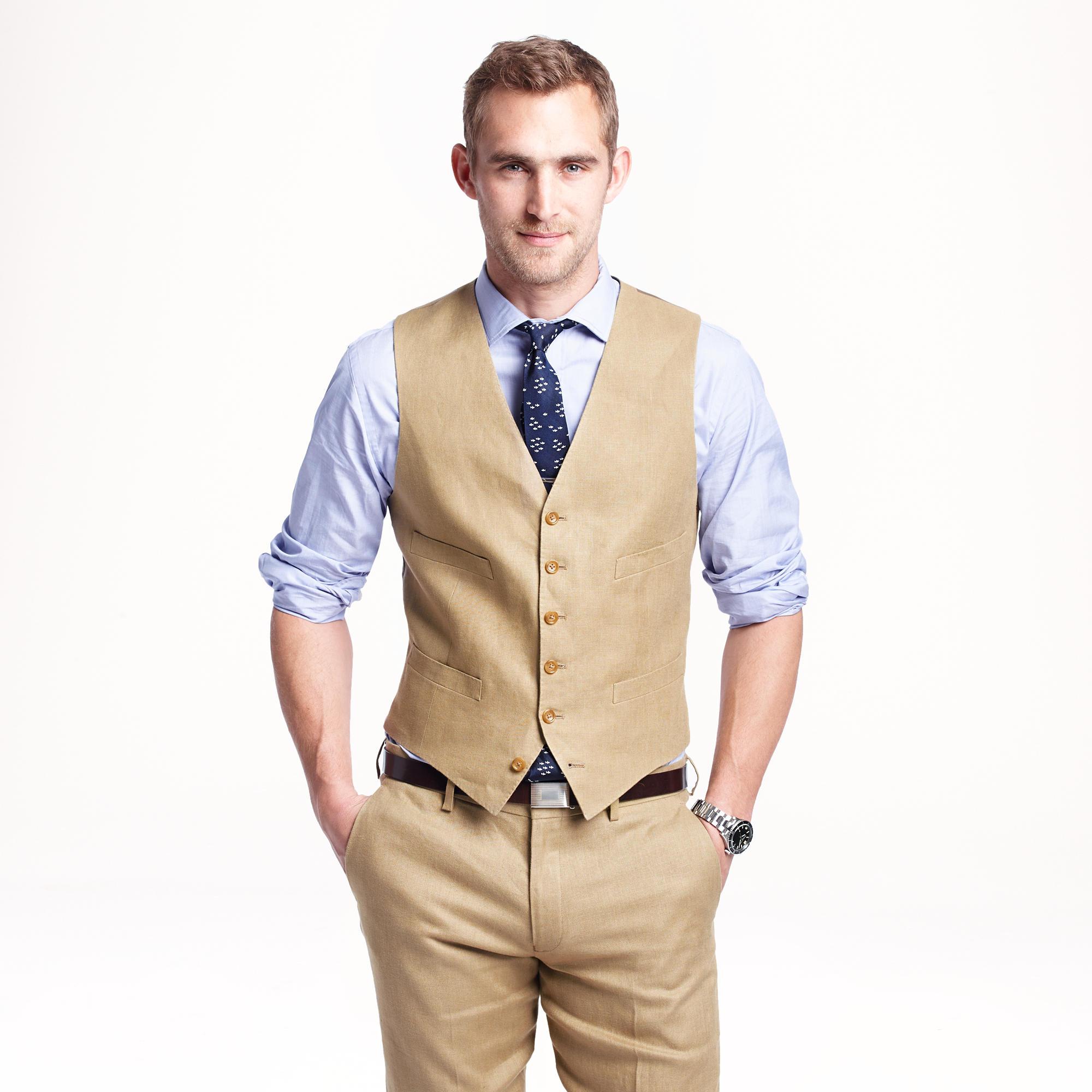Ludlow suit vest in Irish linen : | J.Crew