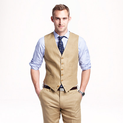 Ludlow suit vest in Irish linen : irish linen Ludlow suiting | J.Crew