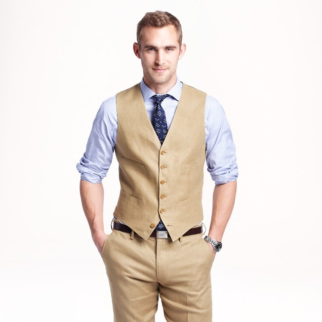 Ludlow suit vest in Irish linen : | J.Crew