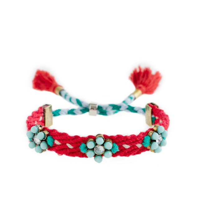 Girls' flower friendship bracelet