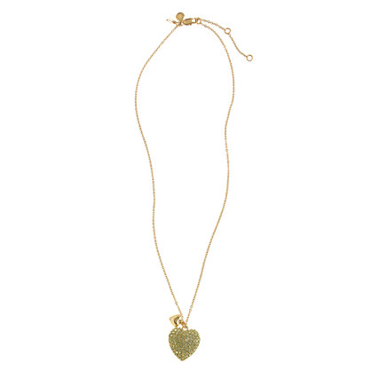 Girls' pavé double heart necklace