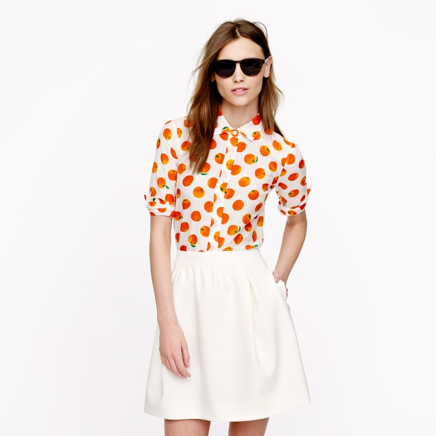 Perfect shirt in citrus print