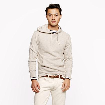 Textured slub cotton hoodie