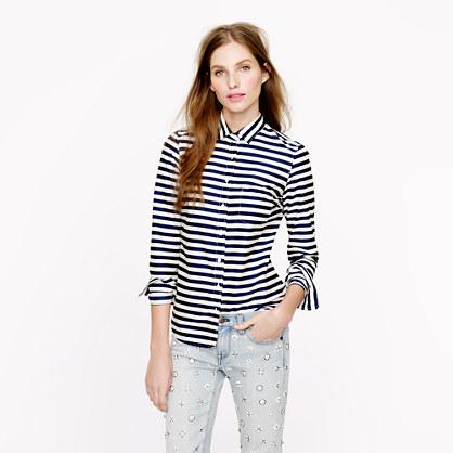 Lightweight boy shirt in stripe