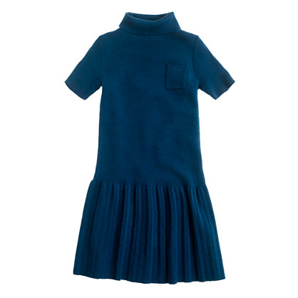 Girls' merino turtleneck dress