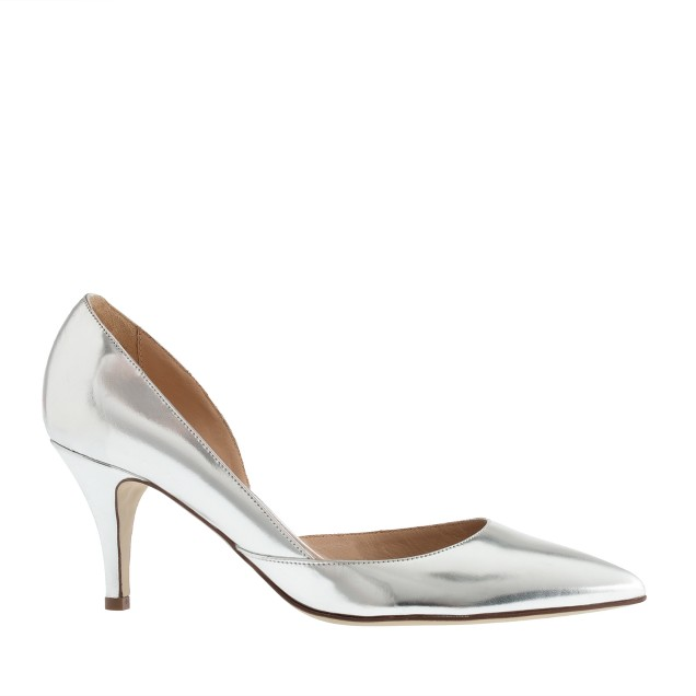 Valentina mirror metallic pumps