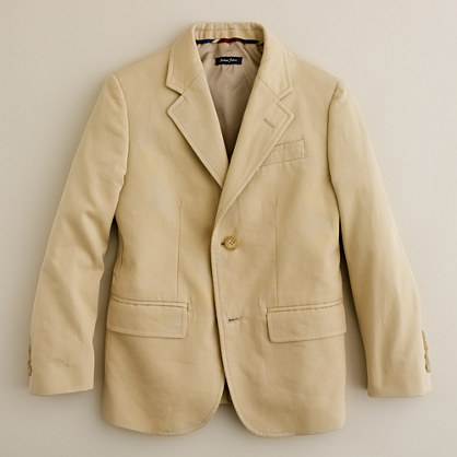 Boys' sportcoat in Italian chino