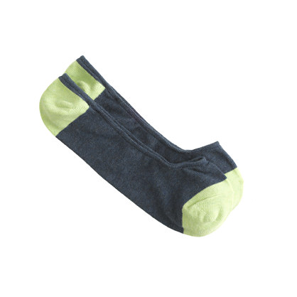 Contrast no-show socks